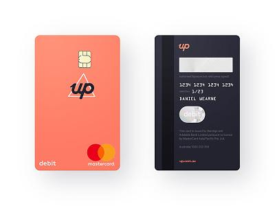 Up Vertical Debit Card bank card debit vertical portrait banking up