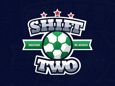 SHIFT TWO logo illustration graphic design green sports branding