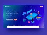 Financial service website landing page
