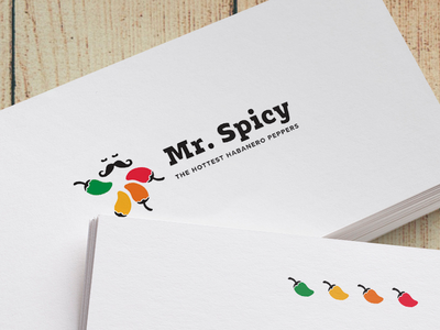 Mr. Spicy logo hot pepper mexico spicy habanero