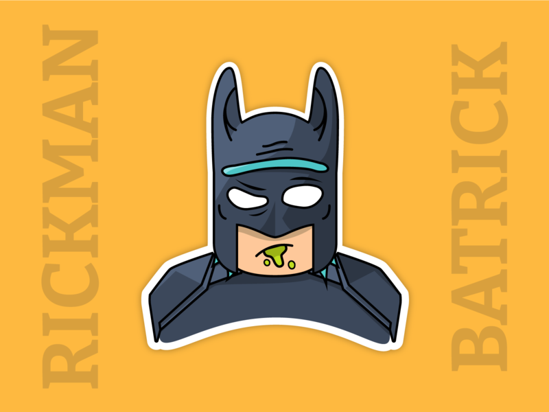 RickMan or BatRick? dc cartoon morty rick rickandmorty batman vector illustration illustrator avatar
