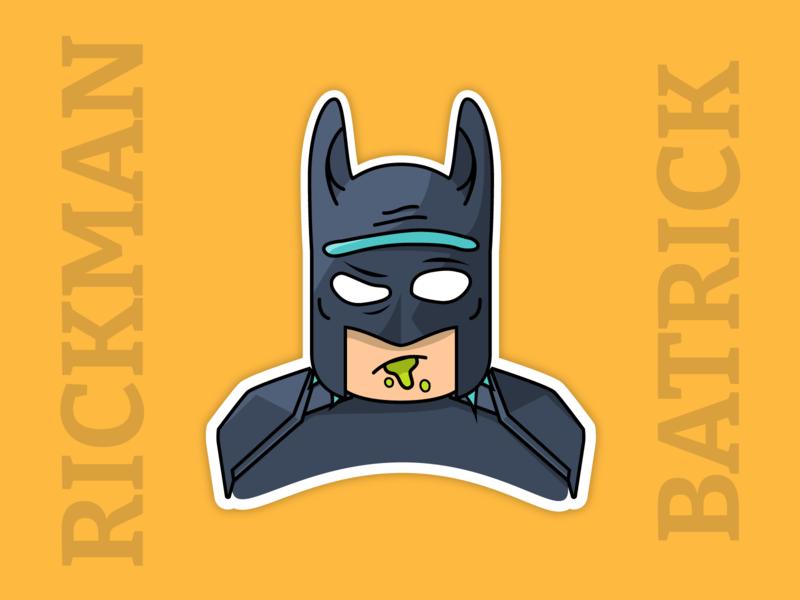 RickMan or BatRick? dc cartoon morty rick rickandmorty batman vector illustration illustrator avatar