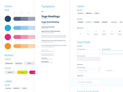 UI Elements buttons typography colour forms elements guidelines styleguide ux ui club studio