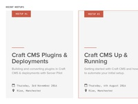 Craft CMS Meetup Cards