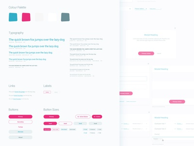 UI Kit | Elements Style Guide colour guidelines typography buttons club studio style guide ui ui kit