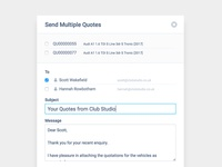 CRM Send Multi-Quote
