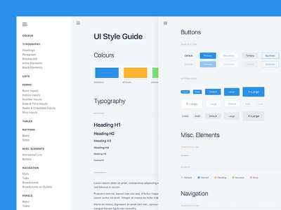 F&W UI Kit ui kit club studio ui typography styleguide guidelines forms elements colour buttons