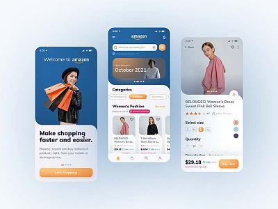 Amazon Shopping Redesign e-commerce shopping app amazon shopping