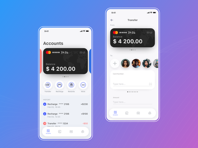 Wallet App wallet app money transfer money management money app visa card design app ui banking app mobilebanking mobile banking app ebanking banking wallet finance app financial app