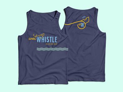 Wet Whistle Tank Top merchandise bar whistle logo branding tank top