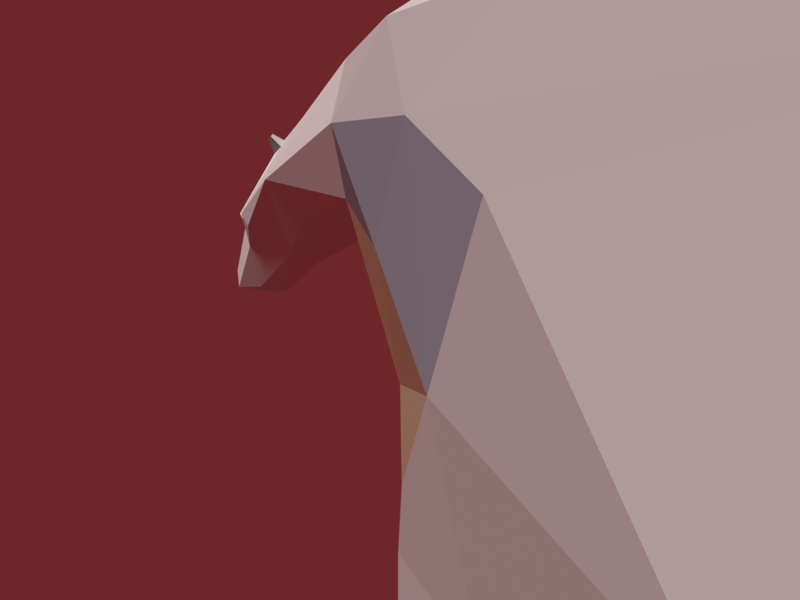 Bear the project! bear illustration blender 3d 3d modeling 3d art low poly lowpoly