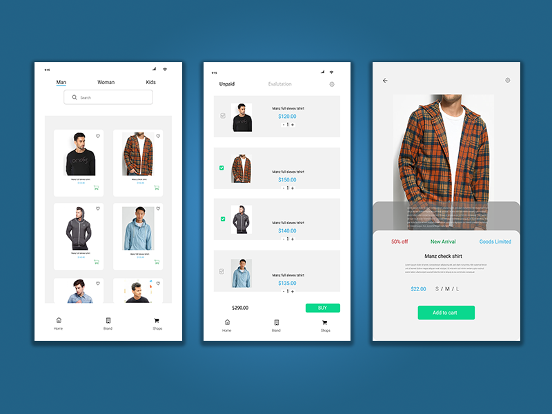 Fashion Add To Cart e-comerce designinspiration creative android app design ui design add to cart product design dailyui graphicdesign dribbble