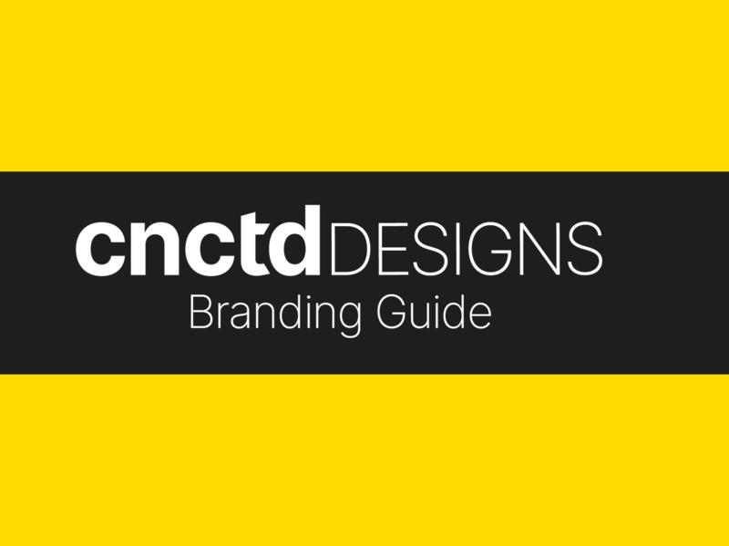 CNCTD Designs Branding Guide vector minimalist flat design branding design minimal logo design logo illustrator branding