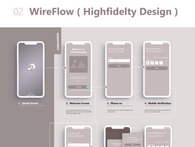 Wireframe design minimal xd app photoshop ui ux design