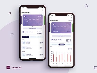 finance app ui daily ui finance app mobile app design mobile app minimal xd app photoshop ui ux design