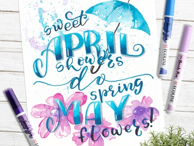 Sweet April showers do spring May flowers! 💙💙💙