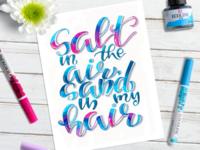 Salt in the air, sand in my hair 💙