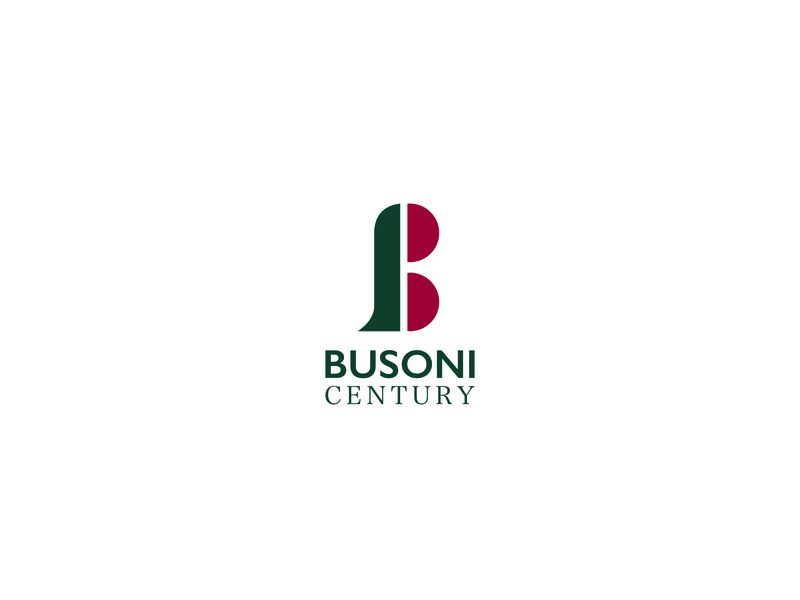 Busoni Century minimal design branding b 100 century icon logo