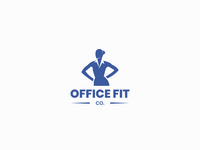 OfficeFit silhouette woman brand logo affinity designer idasu company corporate office fitness health healthy fit