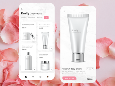 Cosmetic Mobile App clean classification brand illustration home logo design ui illustrator branding
