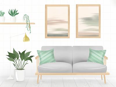 Home Design branding green illustration clean home procreate illustrator vector classification ui design