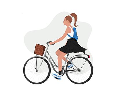 cycling illustration brand ui procreate clean vector illustrator design