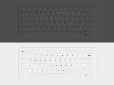 neumorphic Keyboard neumorphism ui ui  ux black and white classification clean brand design neumorphic keyboard