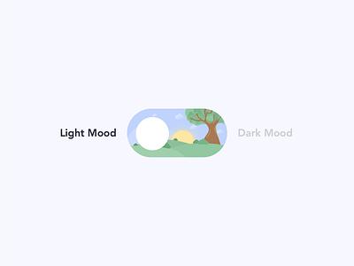 Light/Dark Mode Toggle ligth mode dark mode toggle ux ui branding motion graphics graphic design animation logo illustration vector brand illustrator clean design