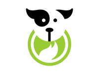 Firedog logo concept