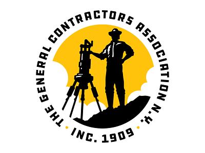 Contractors Logo seal badge surveyor association contractor construction man logo