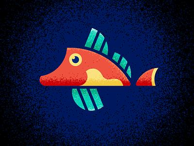 Red Gurnard sea ocean water gillustration gillustrations texture illustration fish