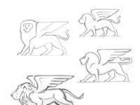 Lion pencils