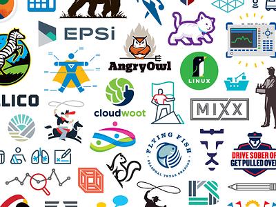 Logos Logos 2 work samples pattern logo illustration identity icon design collage branding