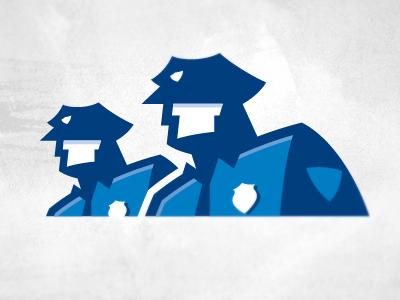 Cops logo cops policemen enforcement blue men human logo illustrative uniform hat