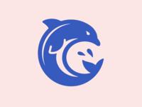 Dolphin logo illustration