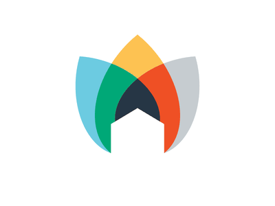 Home Healthcare Logo vector leaves simple healthcare branding leaf house icon design illustration logo