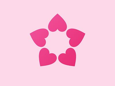 Happy Valentine's Day! vector star pink foundation healthcare health sun heart branding icon design illustration logo