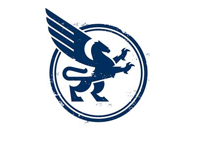 Gryphon Logo vector character identity icon branding design lion wings animal gryphon illustration logo