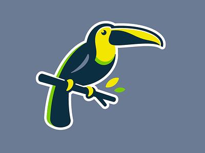 Toucan Logo iconic identity vector character branding design icon animal bird toucan illustration logo