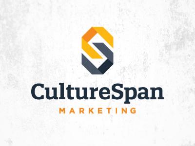 Final logo logo letter c s advertising agency marketing chain cultural hispanic link yellow black gray type
