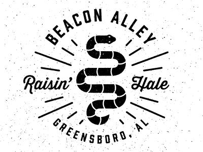 Raisin' Hale branding seal lock-up motto skateboard texture snake