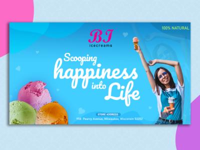 BI ice-creams banner