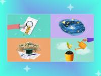 Collage illustrations for svoedelo.blog