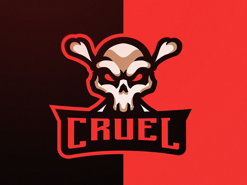 """Cruel"" eSports Logo (for sale) skull art skulls skull aggressive esports gaming branding design vector logos logo illustration gaming logo for sale esports logos esportlogo cruelty cruel"