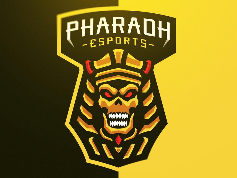 """""""Pharaoh"""" eSports Logo skull art skull logo ancient egypt skulls skull design branding vector logos logo illustration gaming logo gaming for sale esports logos esports esportlogo aggressive"""