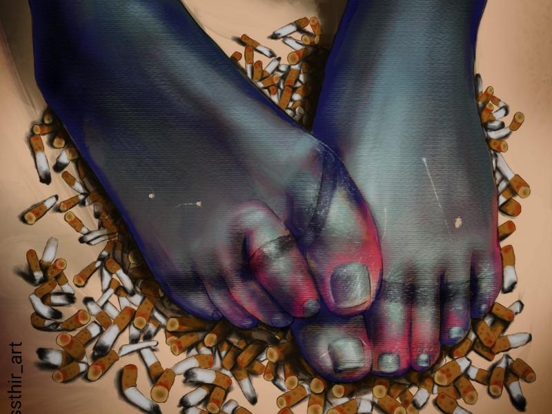 Trash digital painting painting illustration art