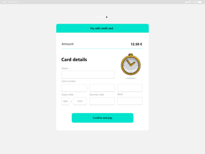DailyUI 02 / Credit Card Checkout