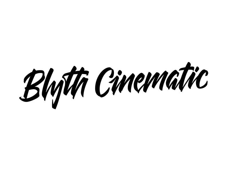 Blyth Cinematic cinematography typography type lettering custom logo cinematic blyth