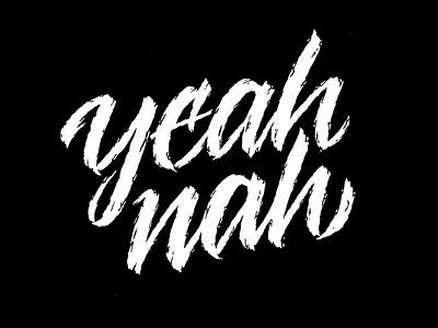 Yeah nah australia nah yeah sketching drawing type lettering