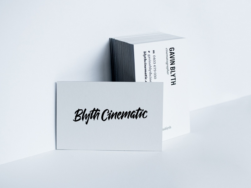 Blyth Cinematic business cards branding typography logo cards business lettering cinematic blyth